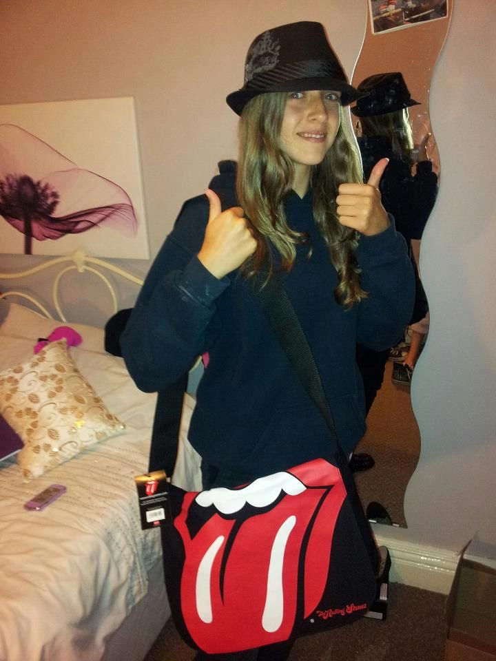 "Posted to our Facebook Fan Page by Ann Egan after a splurge at www.RetroStyler.com: ""My daughter Caitlin loves her new retro school bag and also skull trilby! Thank you :-)"""