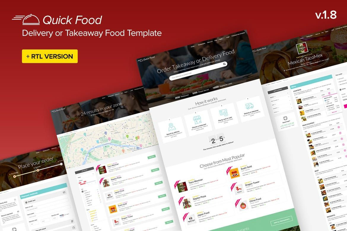 QuickFood Delivery or Takeaway Food Template by Ansonika