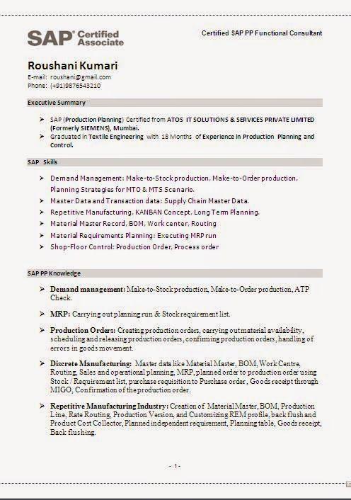 control m scheduler sample resume
