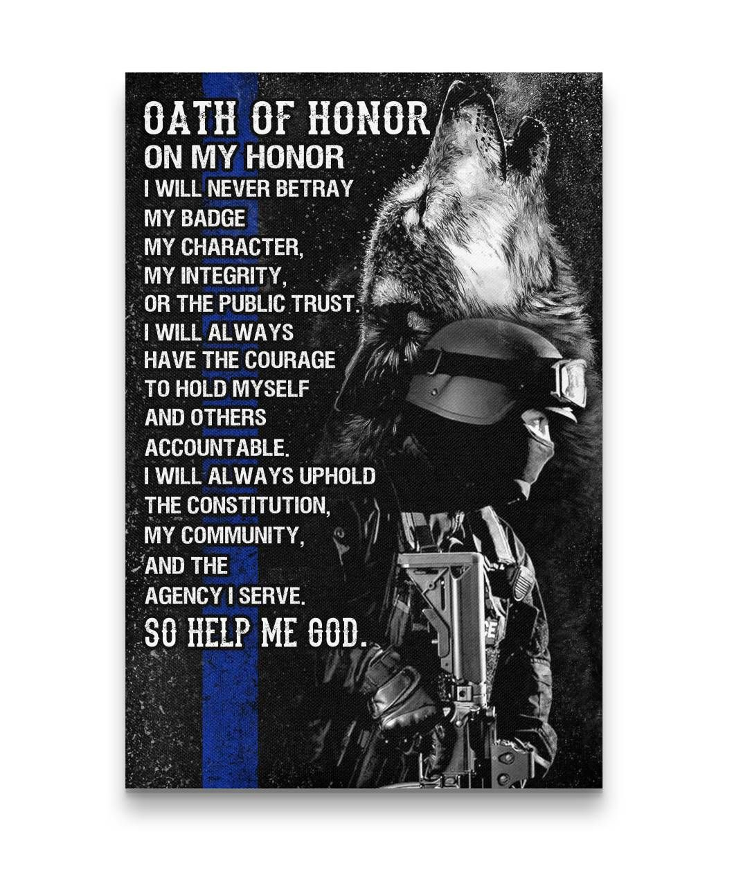 Oath Of Honor Oath Law Enforcement My Community
