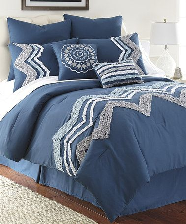 Look what I found on #zulily! Blue Kira Comforter Set by ...
