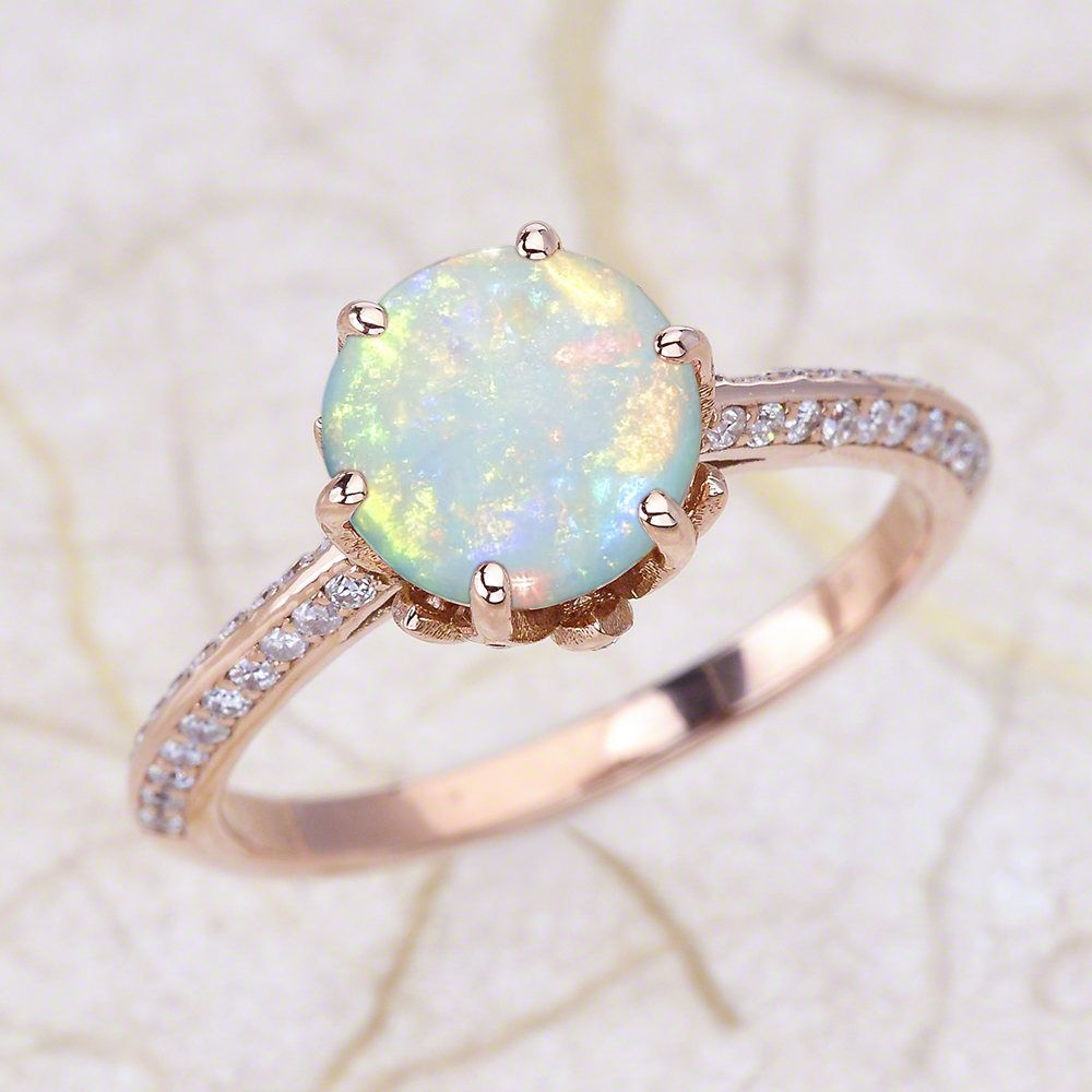 engagement ontherocks by rings lotus ring flower