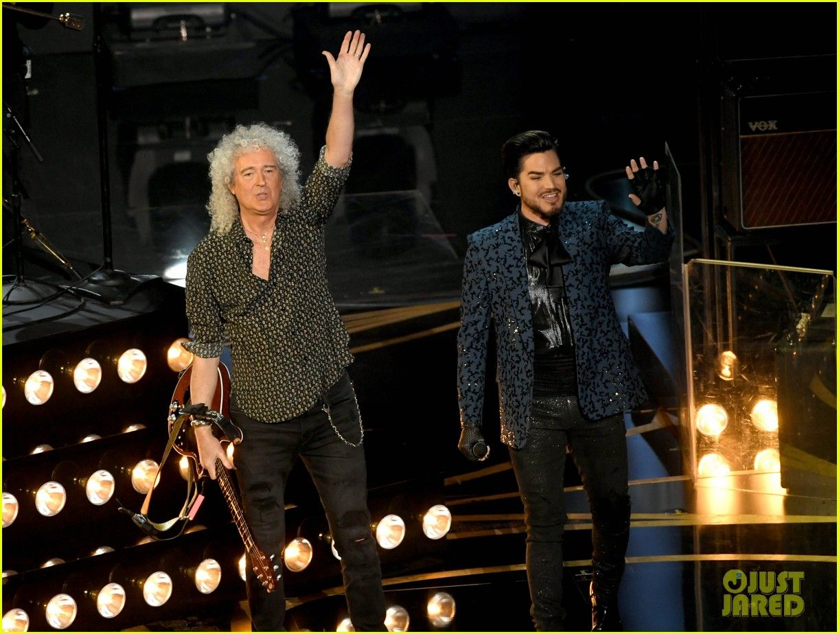 Adam Lambert Queen Team Up To Open Oscars 2019 Watch Adam Lambert Onstage The Hollywood Reporter