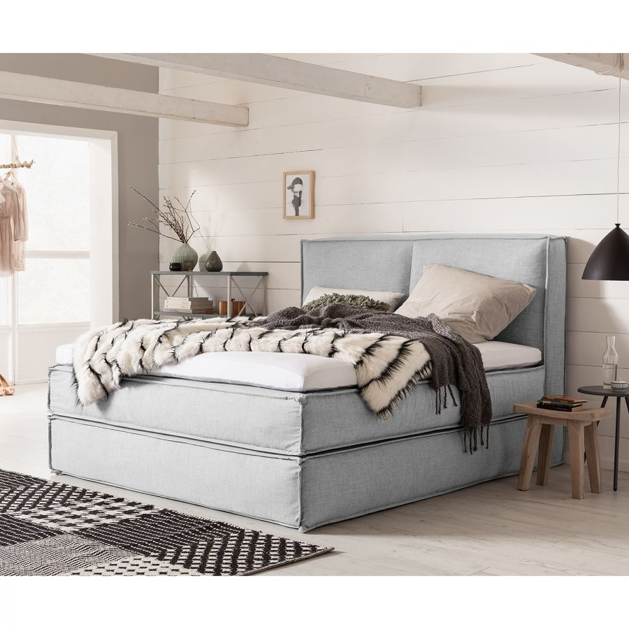 boxspringbett kinx webstoff schlafzimmer pinterest boxspringbett schlafzimmer und bett. Black Bedroom Furniture Sets. Home Design Ideas