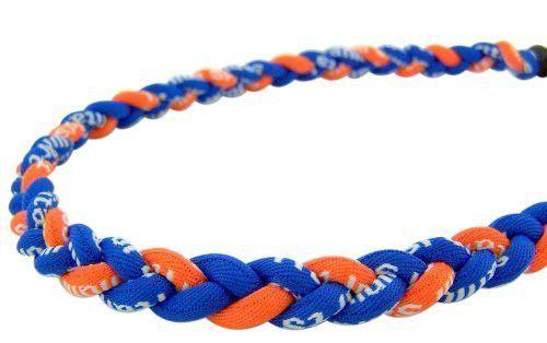 "BASEBALL Titanium Tornado Sports Necklace 20/"" Black Orange White 3 ROPE NEW"