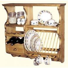 Penny Pine Kitchener Plate Rack Mutfak