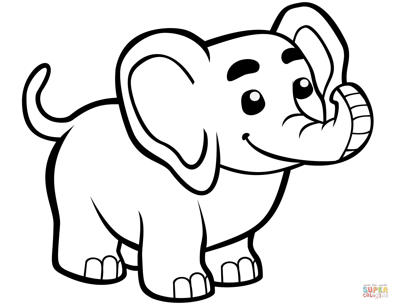 Cute Baby Elephant Coloring Page Free Printable Coloring Pages In 2020 Elephant Coloring Page Elephant Outline Zoo Coloring Pages