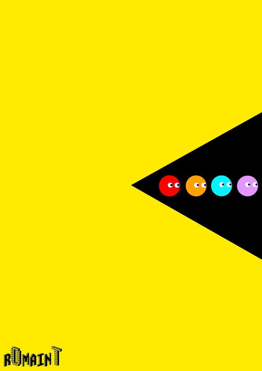 Pacman By R0maint Deviantart Com On Deviantart Retro Poster Pacman Diy Wall Stickers