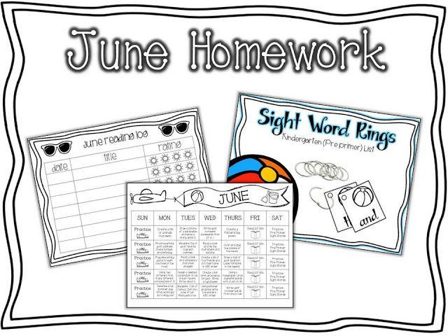 Absorb Summer Content: Summer Homework for Kindergarten