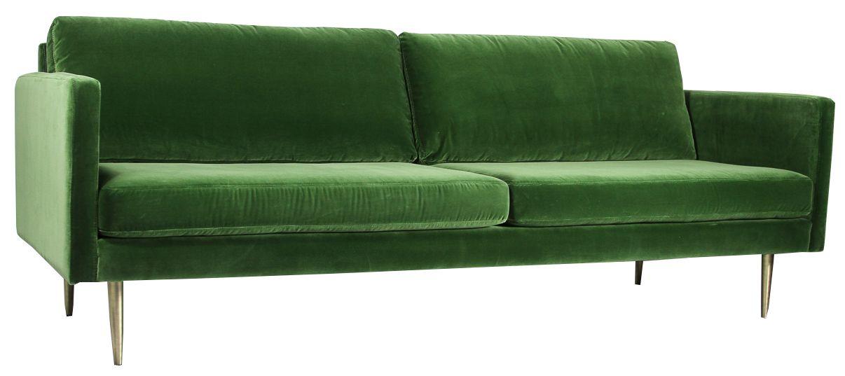 The Big Apple Velvet 3 Seater Sofa Petrol Matt Blatt Sofa 3