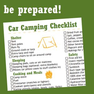 Dont Forget To Print Out This Car Camping Checklist Before You Go It