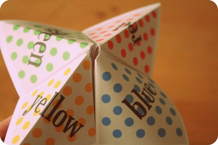 Image result for paper fortune teller