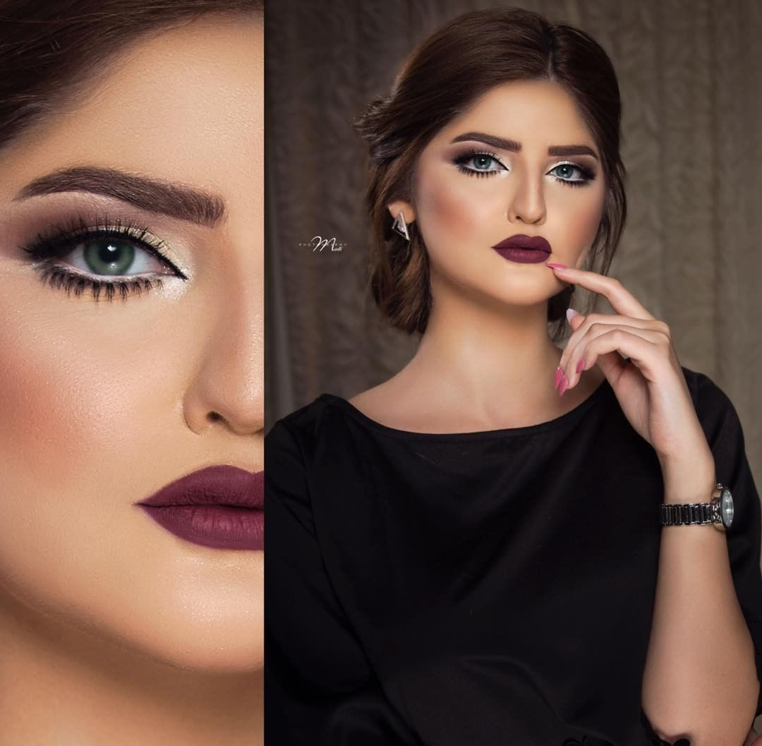 117 Likes 1 Comments Ftoom Hairstyle Ftoom Hairstyle On Instagram هل تصوير من شهرين مع صديقتي الغاليه Holiday Makeup Looks Makeup Looks Soft Eye Makeup
