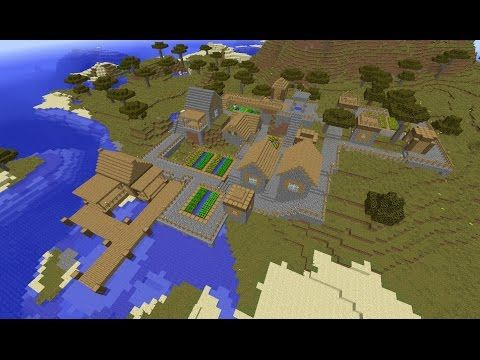 Minecraft Seed 1 8 2 Large Island Spawn Ocean Monument Youtube