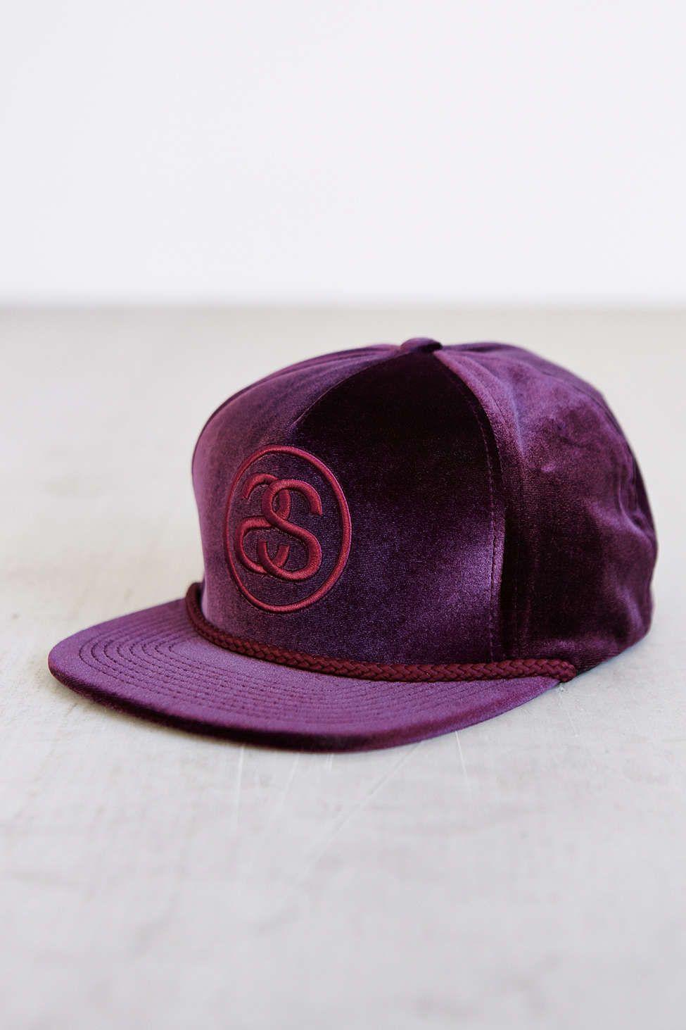 Stussy Velvet Snapback Hat  3eb7b063b42