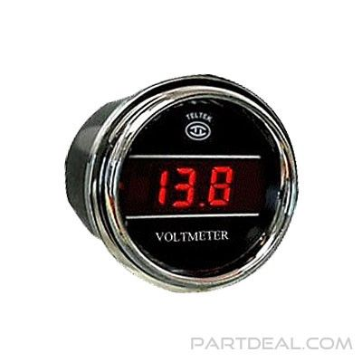 Bezel Black Voltmeter for Kenworth 2005 or previous LED Color Blue