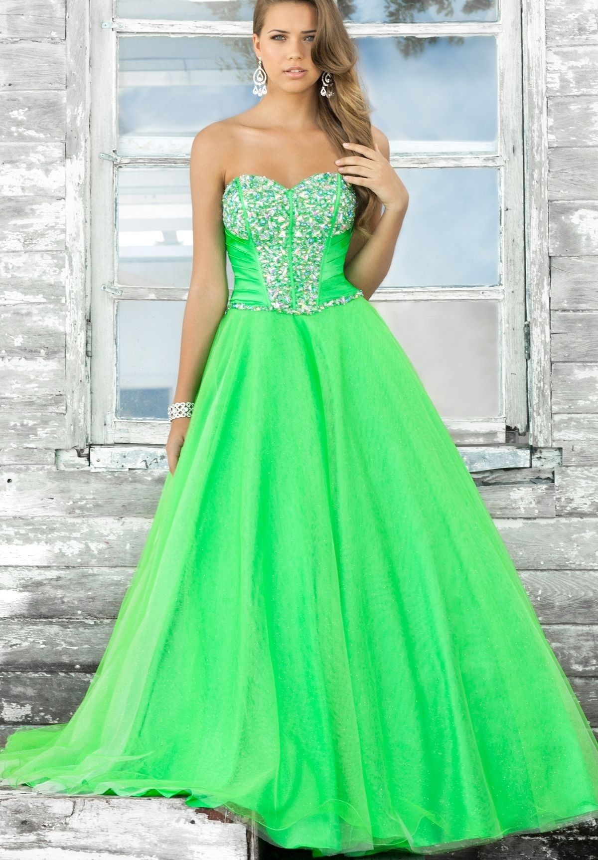 Neon green prom dress..... Awesome | Dresses | Pinterest | Neon ...