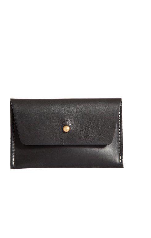 Green Thomas Leather Purse Black - Bags