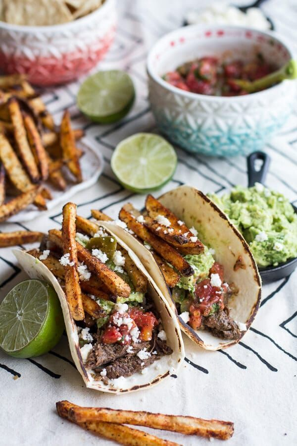 Loaded Crockpot Carne Asada Tacos + Video