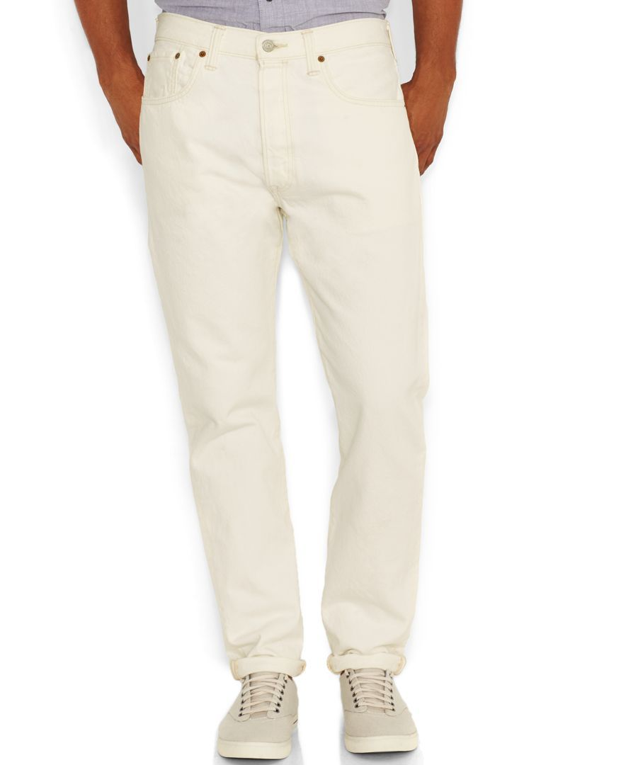 Levi's 501 Ct Customized Tapered Jeans, White Light