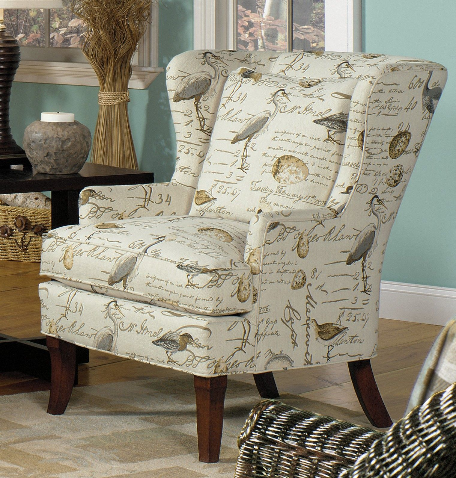 Living Room Chairs With Bird Upholstery Song Wing