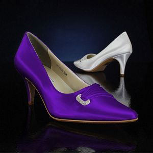 Chandra 321 By Touch Ups Dyed Grape Purple Wedding Shoes