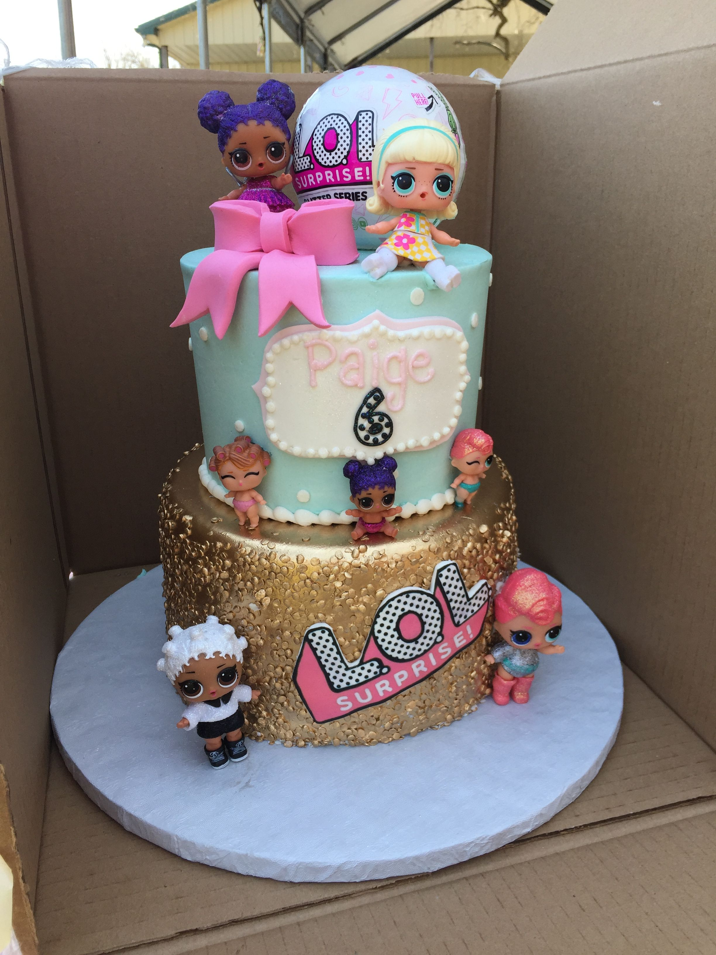 My Daughters Lol Surprise Birthday Cake Funny Birthday Cakes Surprise Birthday Cake 6th Birthday Cakes