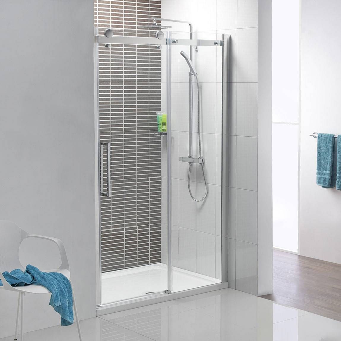 V8 Frameless Sliding Shower Door 1200 Bathroom Ideas