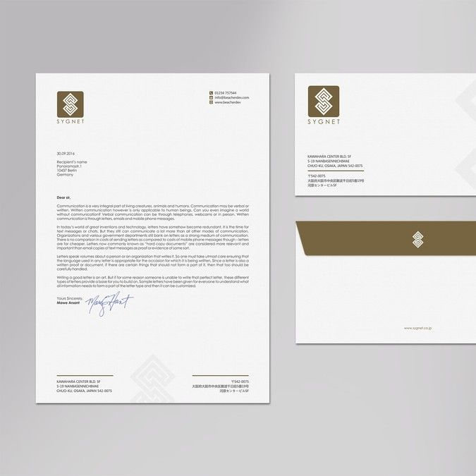 Create Envelope And Letter Head Design By Logodentity  Womens