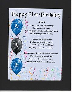 Personalised Mounted Poem Print 21st Birthday Son Poem Happy 18th Birthday Son Happy 18th Birthday Quotes Birthday Verses For Cards