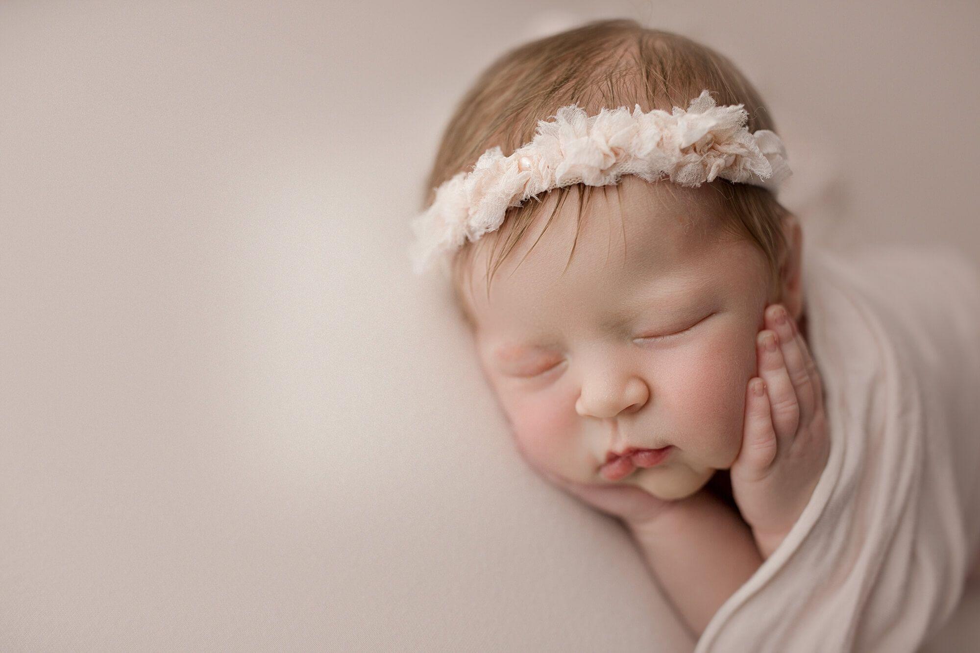 Newborn photography seattle baby girl studio session