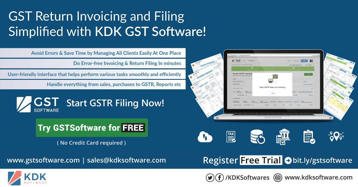 GST Return Invoicing and Filing Simplified with KDK GST