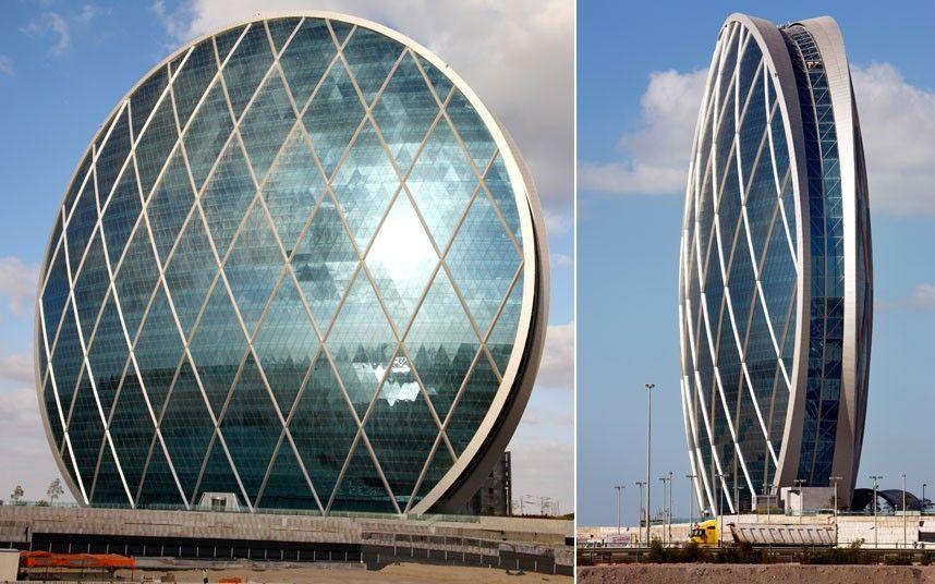 Round Bldg  AlDar HQ - The world's first circular skyscraper - Abu Dhabi 2010 أبو ظبى