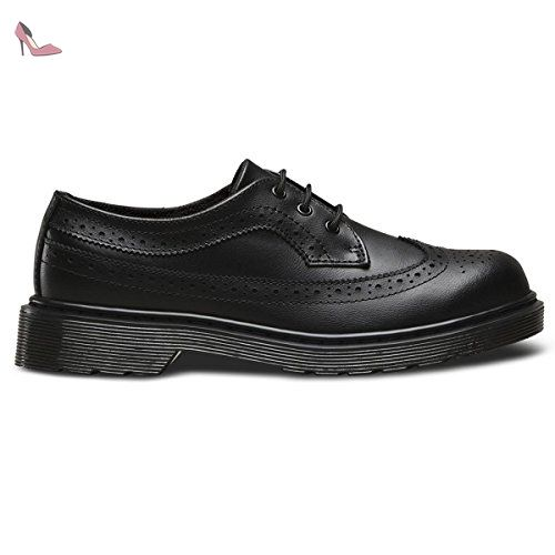 Dr. Martens 3989 T Lamper, Brogues Mixte Enfant, Noir (Black