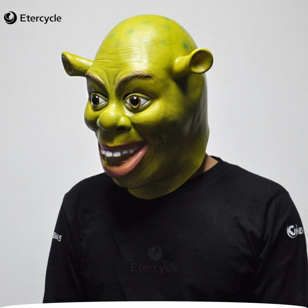 Spoof Mask Party Costume Cosplay Halloween Head Gear Latex Shrek