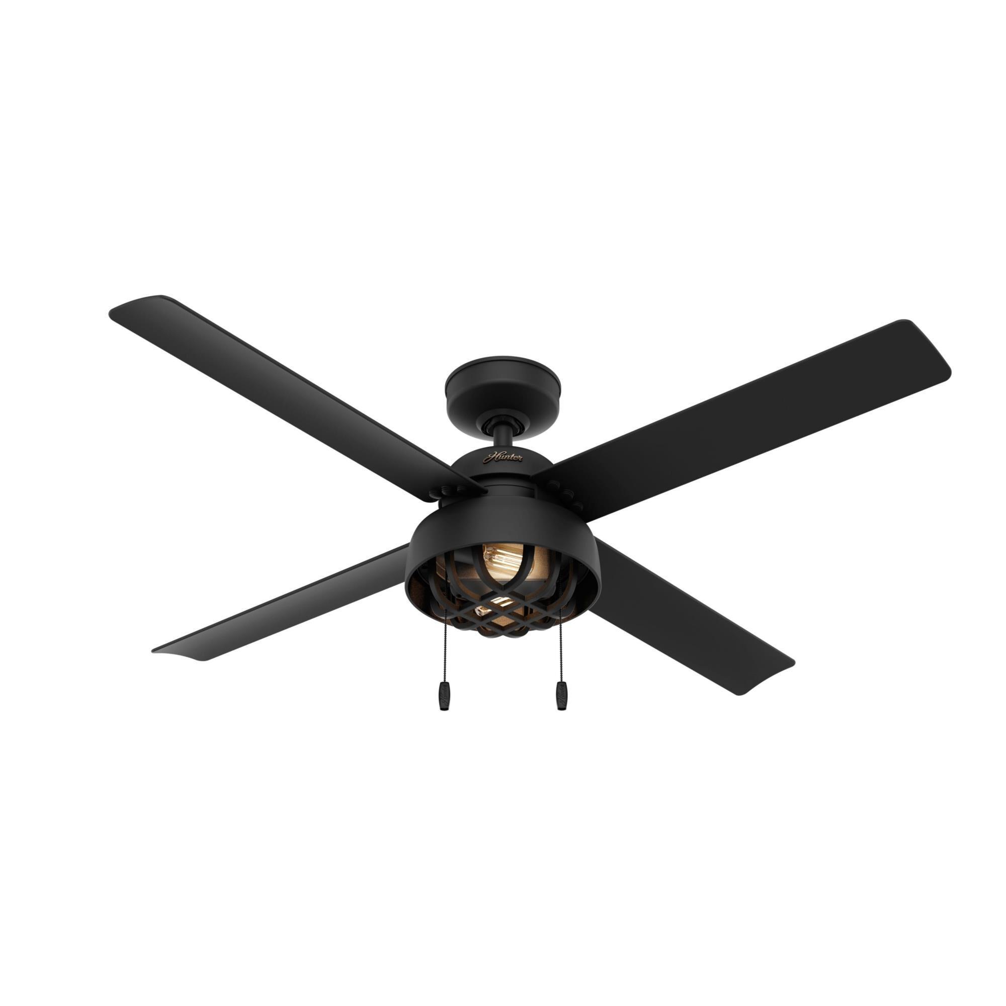 Spring Mill 52 Inch Ceiling Fan With Light Kit Capitol Lighting Black Ceiling Fan Ceiling Fan Led Ceiling Fan