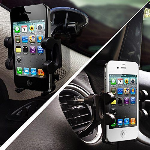 2-in-1 Mobile Phone Car Mount, Holder - Universal Fit - Secure Cell ...