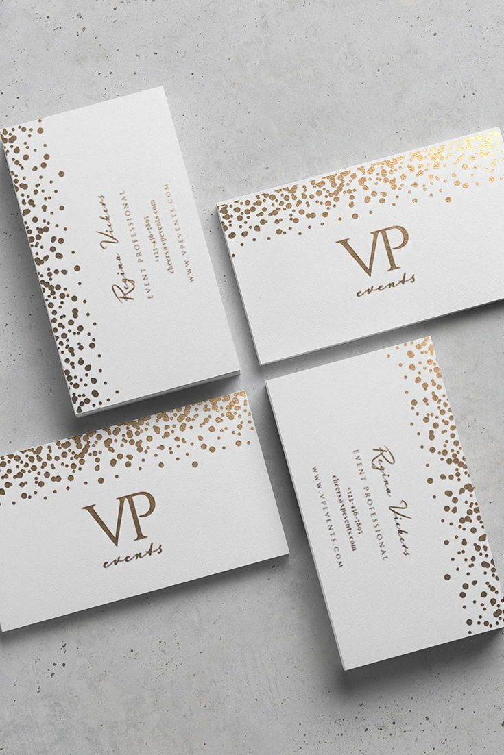 Karimacreative Elegant Business Card Design In White And Gold Mi Event Planner Business Card Event Planner Business Card Design Business Card Design Creative
