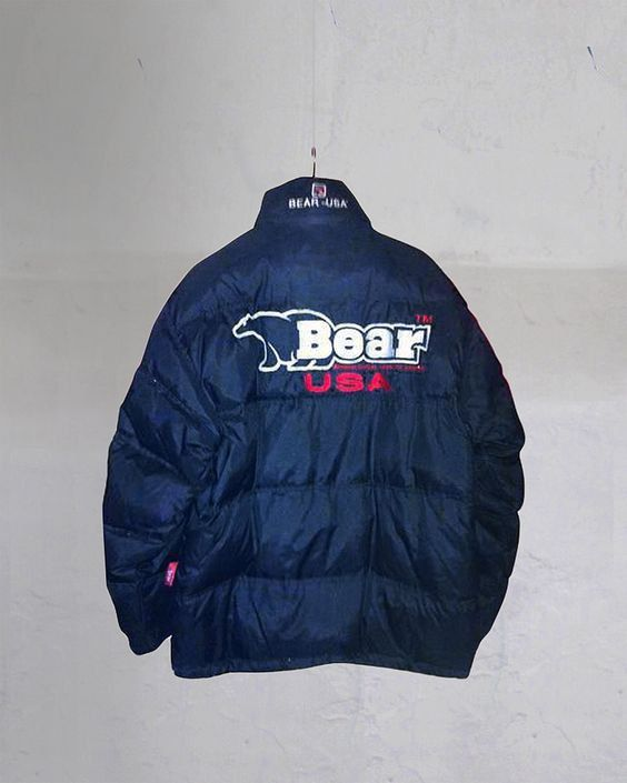 RARE VINTAGE ADIDAS Spell Out Trefoil Quilt Lined Puffer