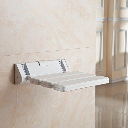 Wall Mount ABS Plastic Foldable Bathroom Stool Shower Seat Shoe ...