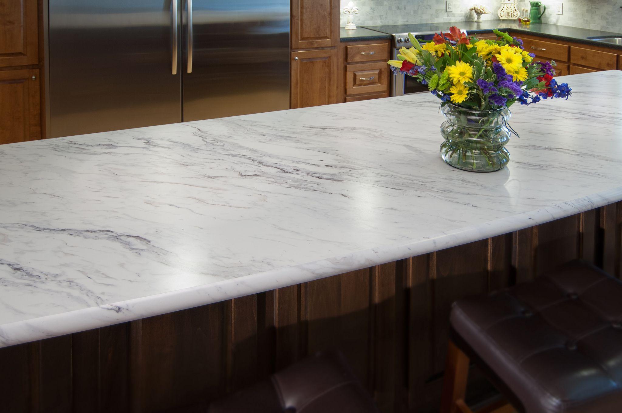 Laminate Kitchen Countertops Kohler Undermount Sink Wilsonart Premium Calcutta Marble 4925