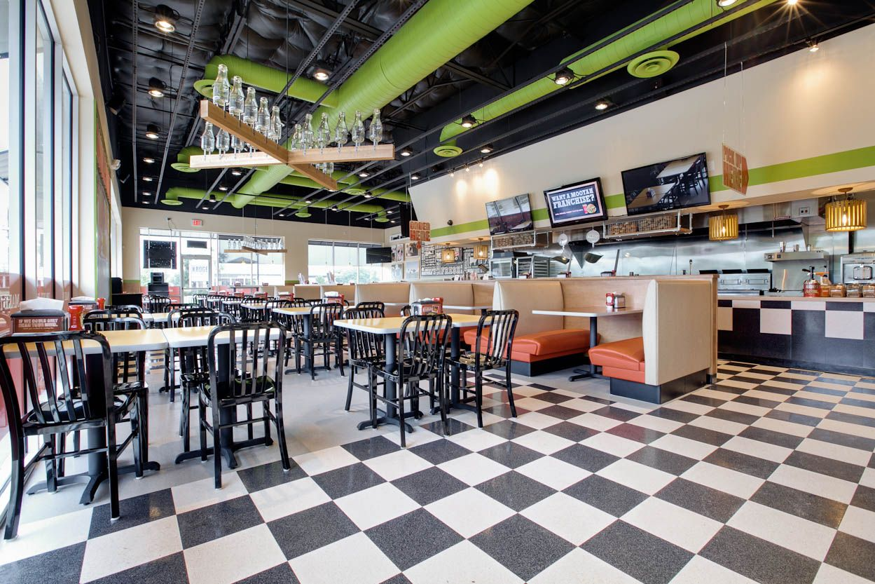 New plano tx location mooyah design mooyah by design pinterest for Interior design services plano