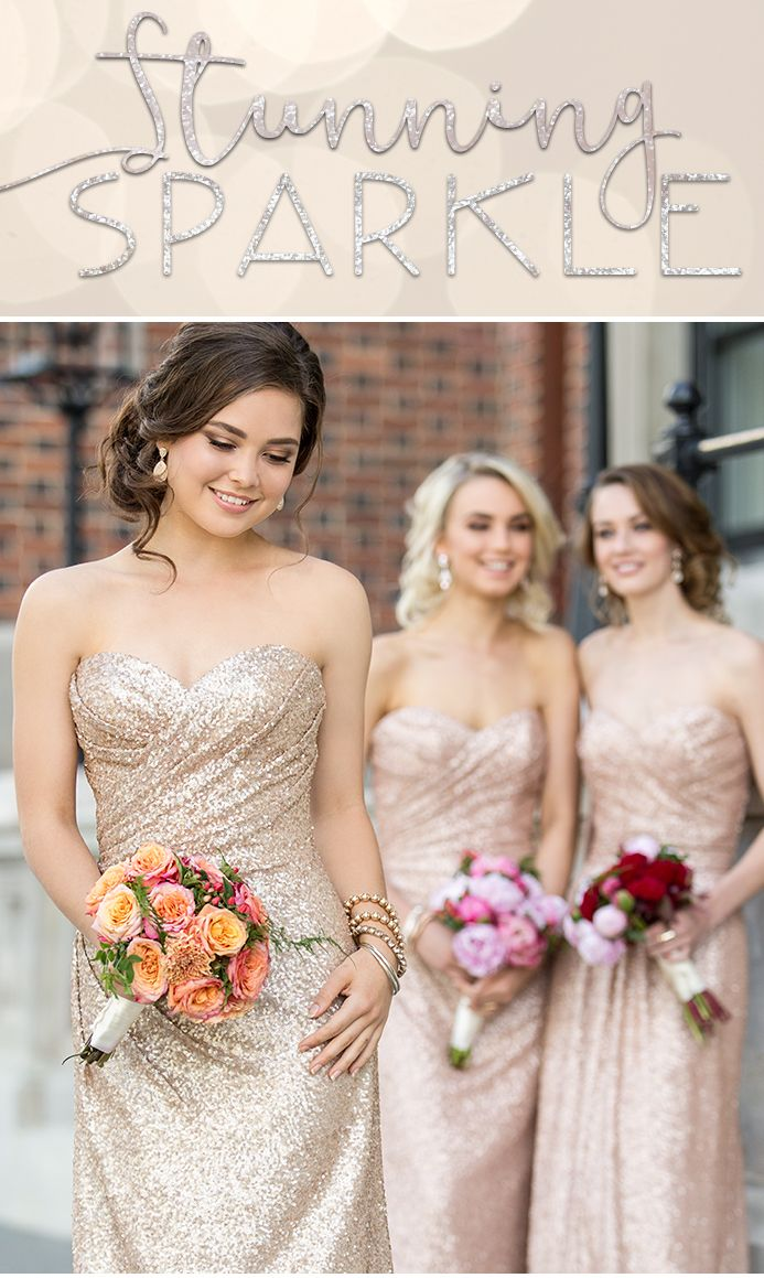 Stunning sparkle bridesmaid dresses available at the bridal stunning sparkle bridesmaid dresses available at the bridal boutique by maeme mix and match bridesmaid ombrellifo Gallery