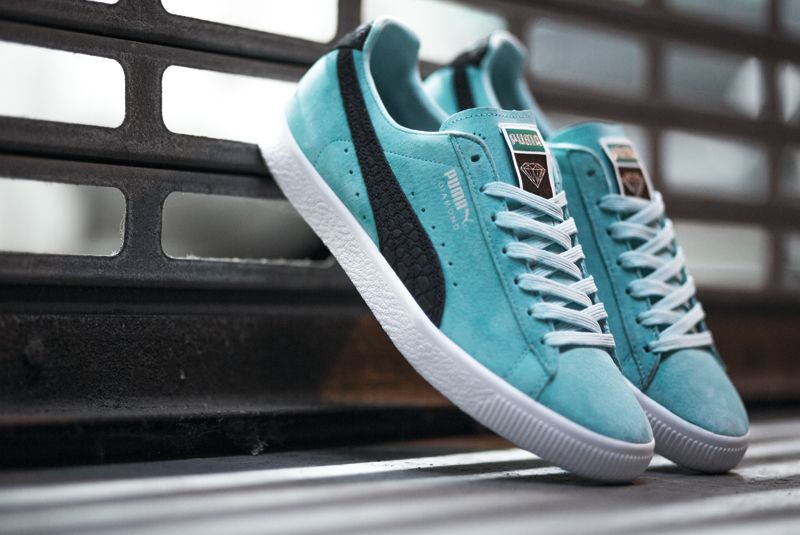 Diamond Supply Co. Styles the Puma Clyde in Aruba Blue - EU Kicks Sneaker  Magazine 85049445f