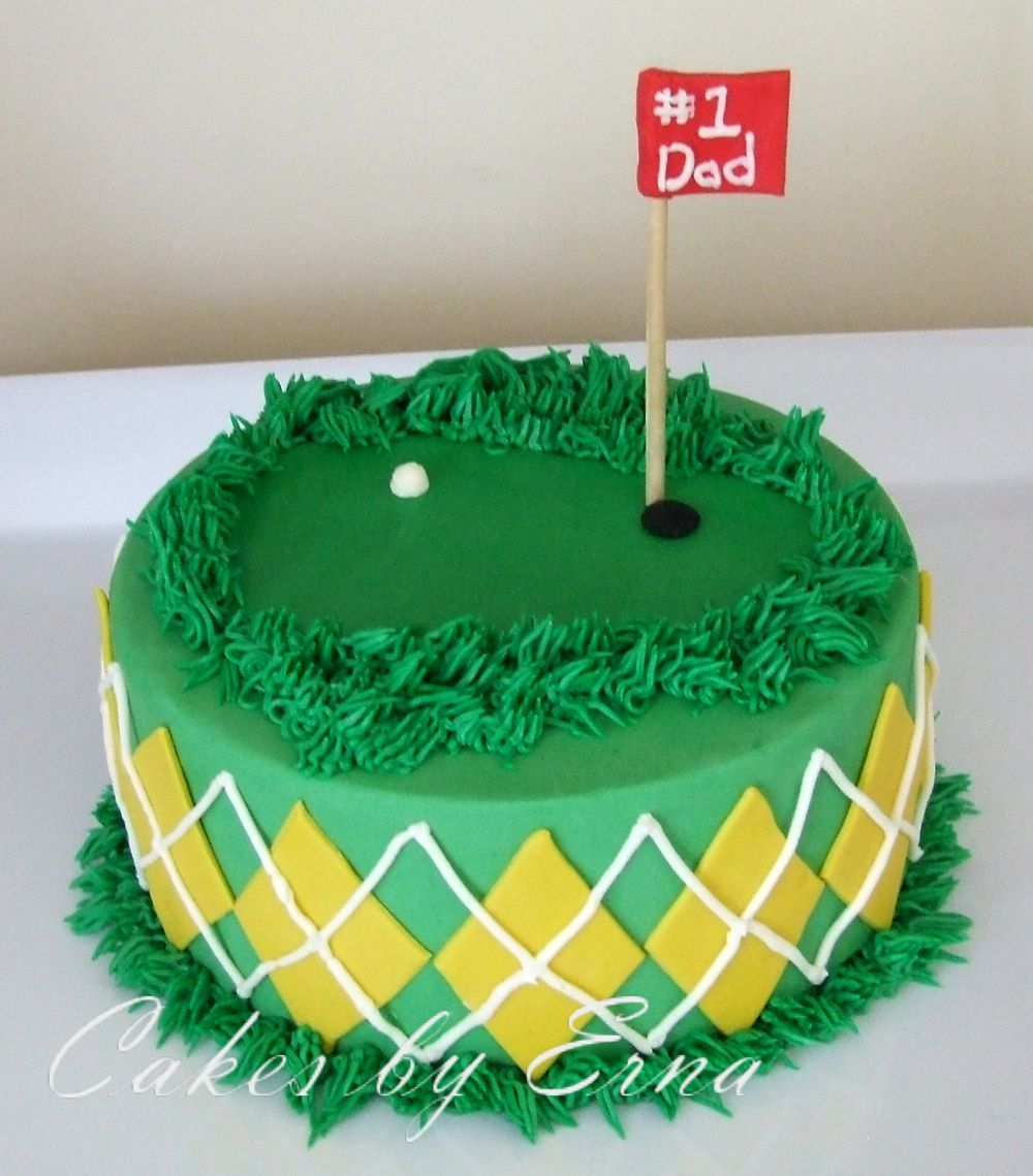 Cake Decorating Ideas Golf Theme : Father s Day Golf Cake Golf, Cake and Father