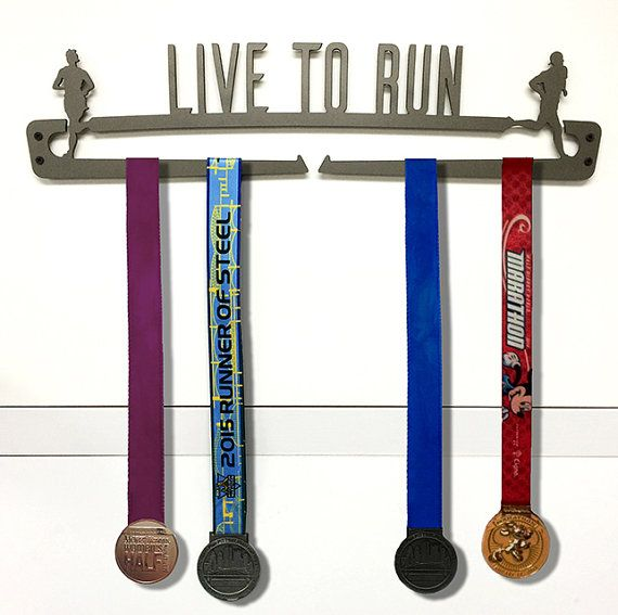 Live to Run Marathon Medal Display by Reflective Edge Designs