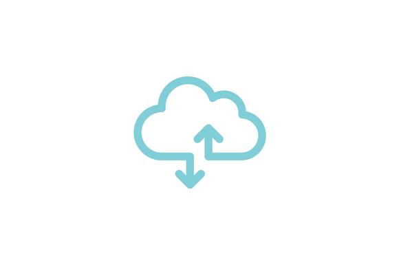 Cloud Transfer Logo Template Logo Templates Tech Logos Business Card Logo