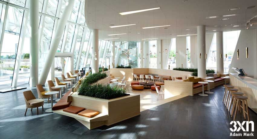 Bella Sky 3xn160511 Am4 Jpg 850 461 Hotel Lounge Hotel Architecture Hotel Lobby Design