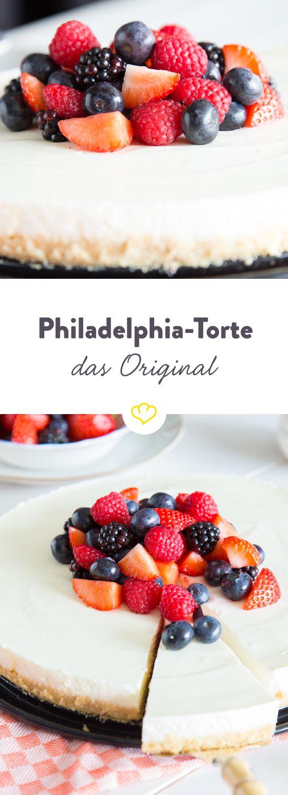 Die Philadelphia-Torte - die einzig wahre Kühlschranktorte! #cakesandcheesecakes