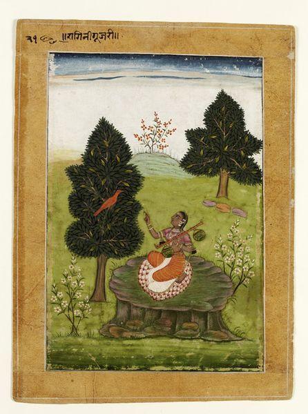 Gujari Ragini, late 17th c. (Bikaner)   V&A